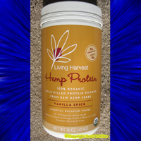 LIVING HARVEST ORGANIC HEMP PROTEIN powder VANILLA SPICE