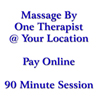 2-Hand Therapeutic Massage (1 Therapist ONLY) 90 MINUTES
