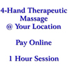 4-Hand Therapeutic Massage 1 HOUR