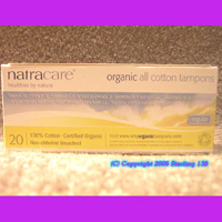 Natracare 20 ORGANIC 100% cotton tampons REGULAR
