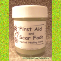FIRST AID & SCAR FADE SALVE burns stretch marks VEGAN