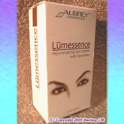 Aubrey Organics LUMESSENCE rejuvenating EYE CREME - Click Image to Close