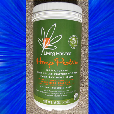LIVING HARVEST ORGANIC HEMP PROTEIN powder 16 oz