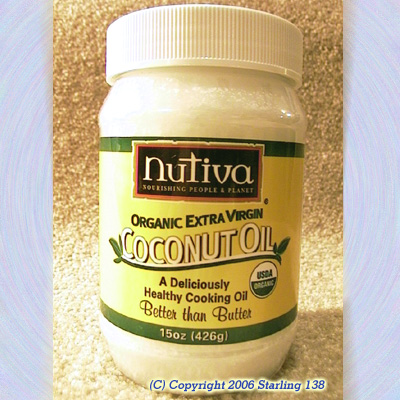 Nutiva ORGANIC EXTRA VIRGIN COCONUT OIL 15 oz